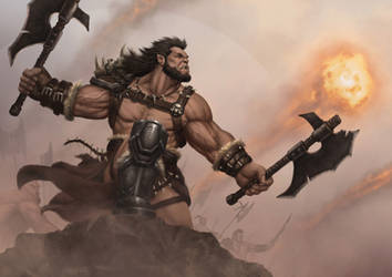 Golarath Battle Scene by martinpazromero