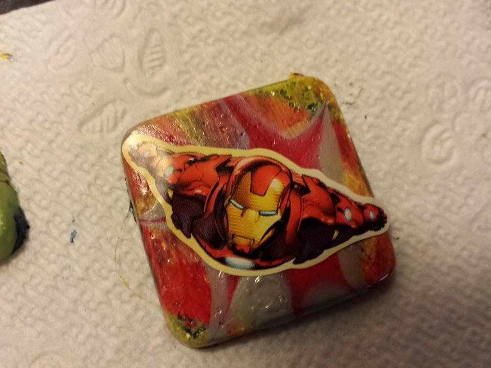 Iron Man Resin Pendant by lucky-meryl