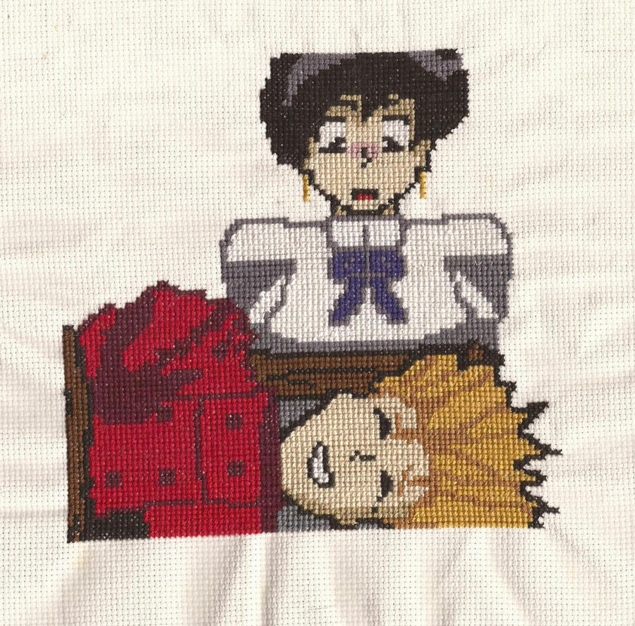 Vash and Meryl cross stitch by lucky-meryl