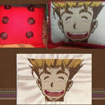 Vash the Stampede Cross Stitch Pillow