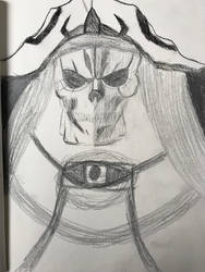 Overlord Sketch Ainz Ooal Gown by DascordStudios