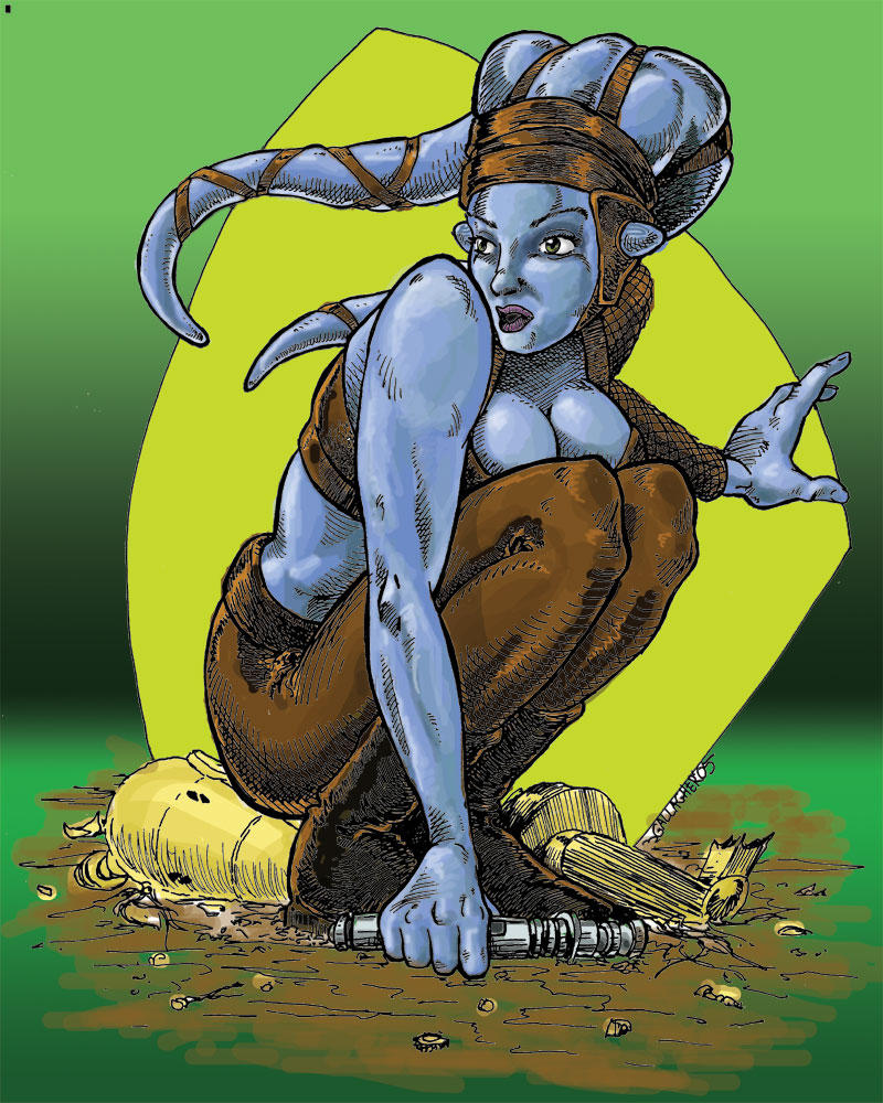 Aayla Secura by lilmikeegee
