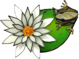 3D frog on lillypad by SJackson74