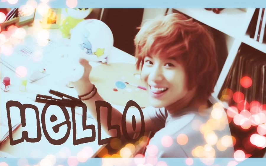 SHINee-Taemin Hello wallies by yidmilan on DeviantArt Shinee Taemin Hello