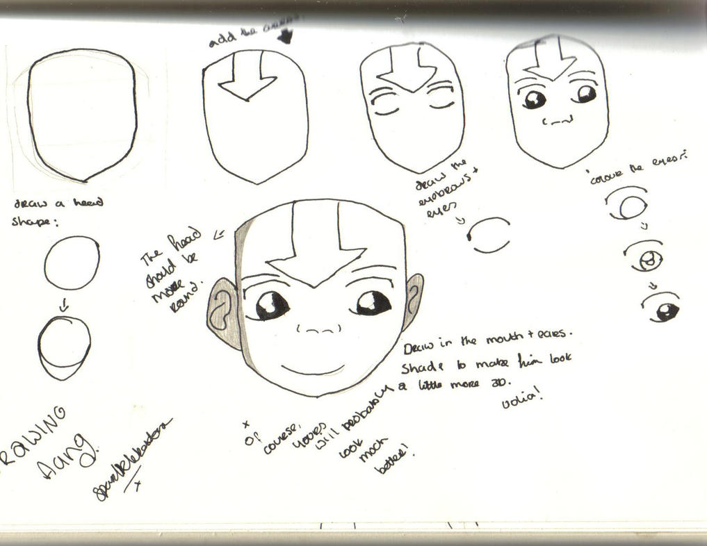 how i draw aang by sparklebextor