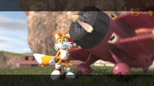 Recreation of the end of the Tails story (S.A)
