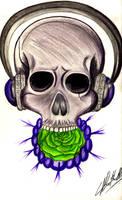 Skullwithheadphone