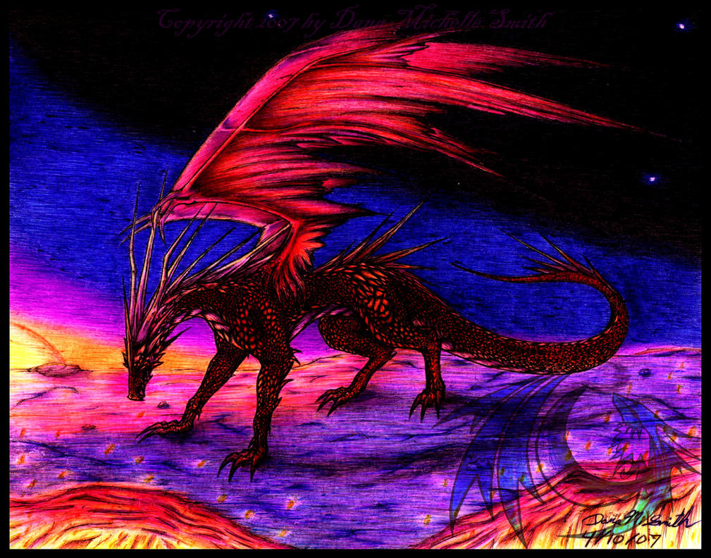 Sunset Dragon by Rose-of-Lynn on DeviantArt |Dragons And Sunsets