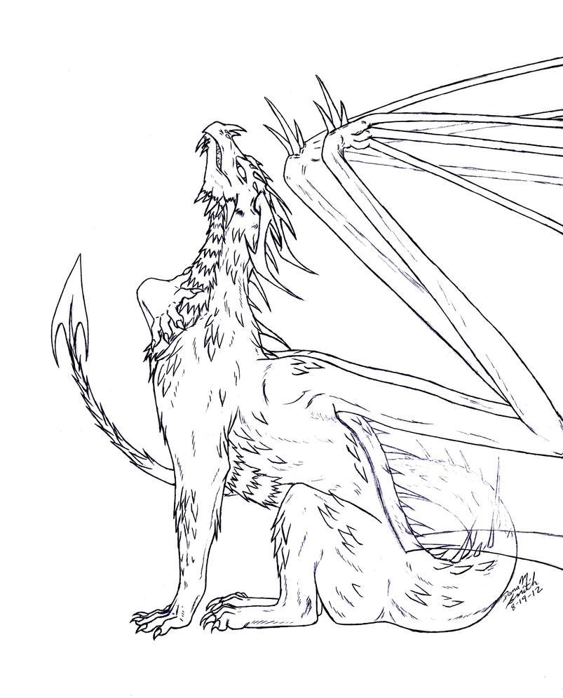 Commission: Ryukia lineart by ZeitgeistDragon