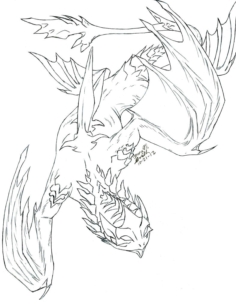 Lineart commission:Temaran-Strider by LegacyofanArtist