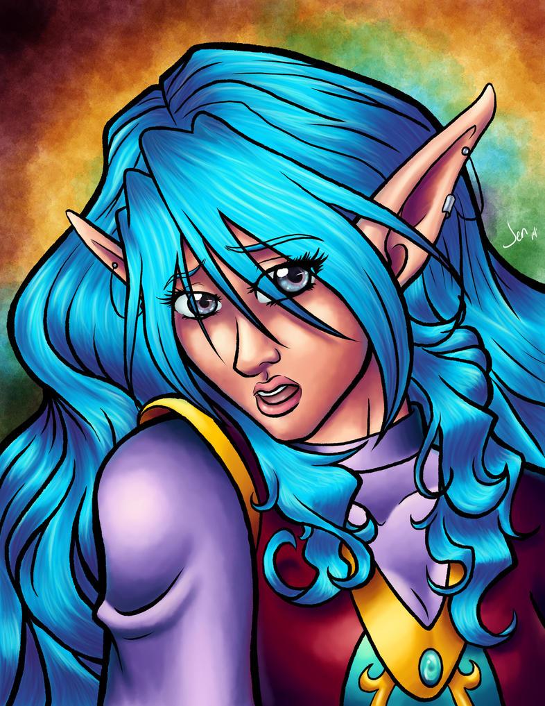 Portrait of a Princess by Aqua-Drannix