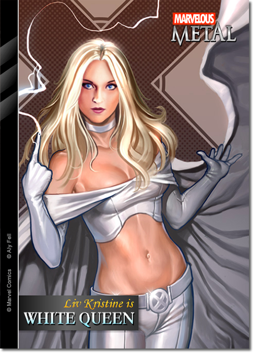 Liv Kristine, the White Queen by M-EX
