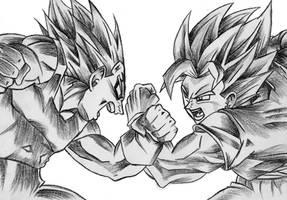 Goku VS Vegeta by Viglione