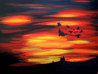 Daemmerflug- dawn flight by Boindys