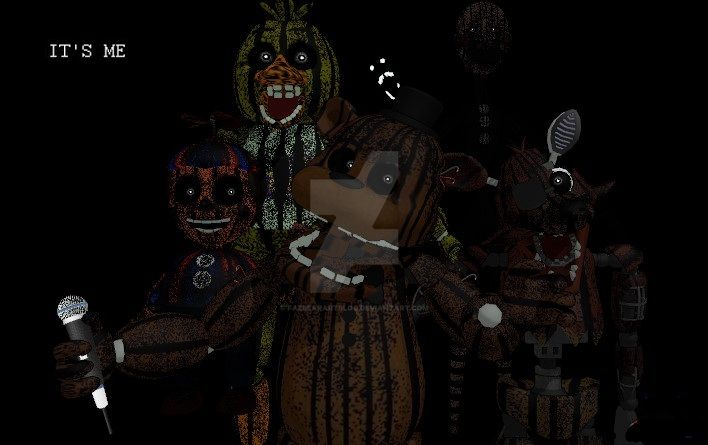 All The Phantom Animatronics And Trap From Fnaf 3 Five