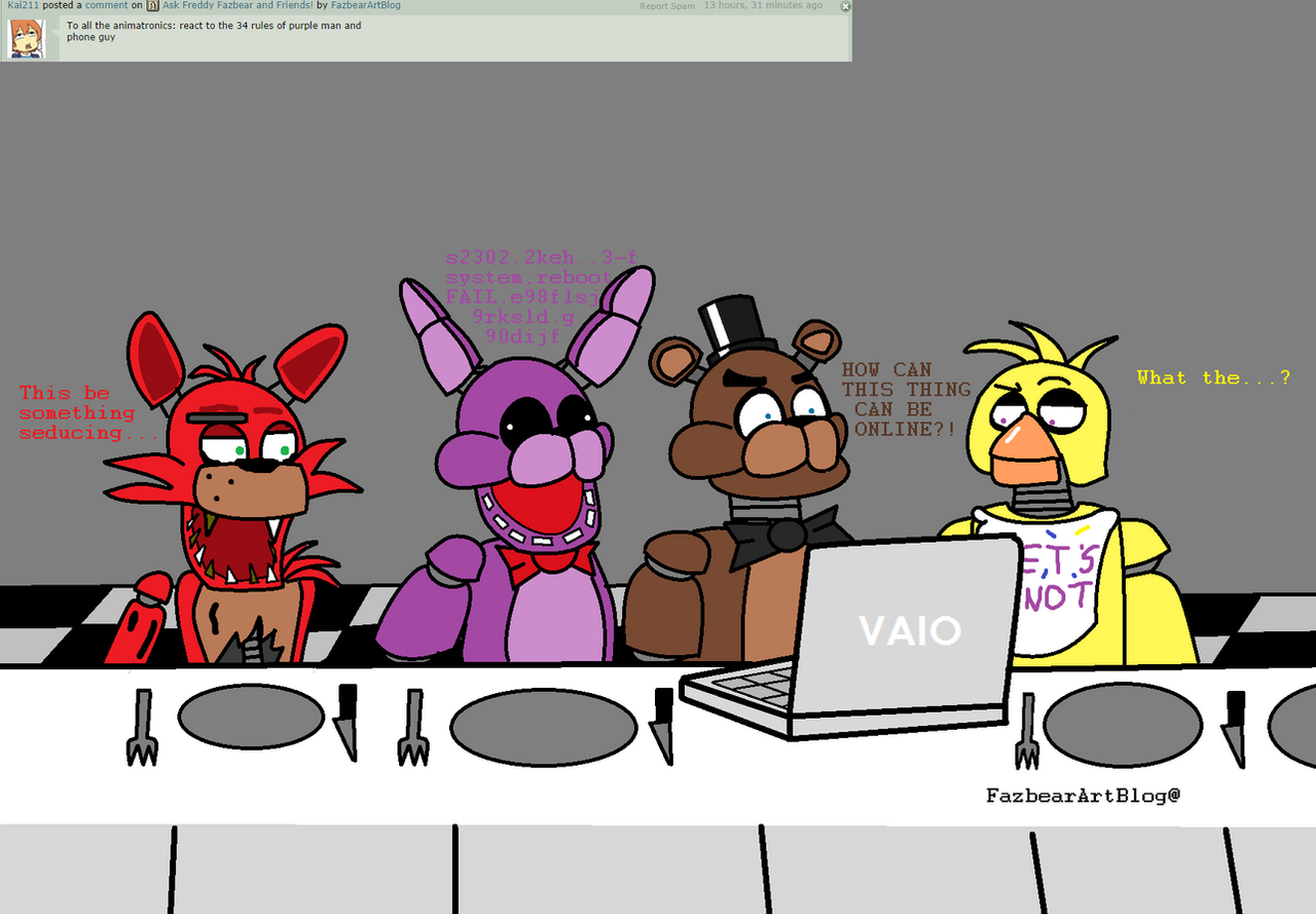 Ask Freddy Fazbear And Friends! #2 By FazbearArtBlog On