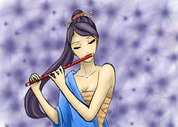 Bamboo Flute by alita-angel