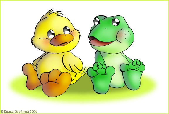 Duck n Frog by o0NeonCola0o