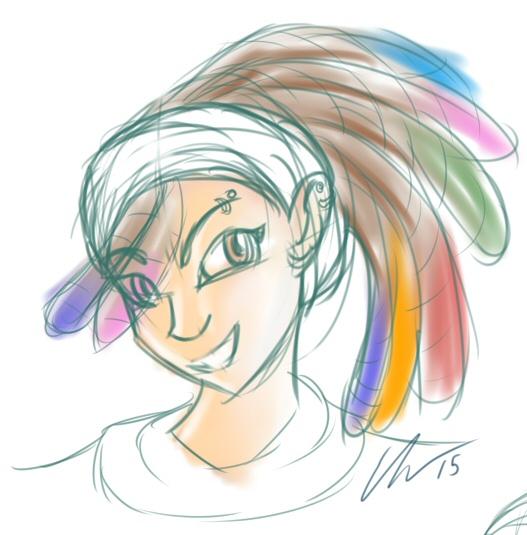 Coloured Dreds by o0NeonCola0o