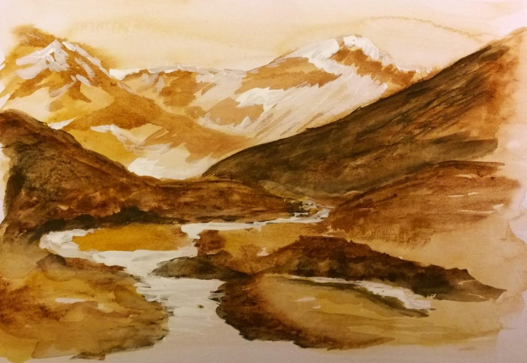 Sketch: Muddy hills by o0NeonCola0o