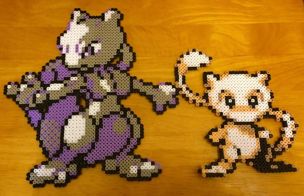 Pokemon Perler Beads by o0NeonCola0o