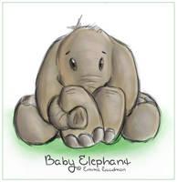 Baby Elephant by o0NeonCola0o