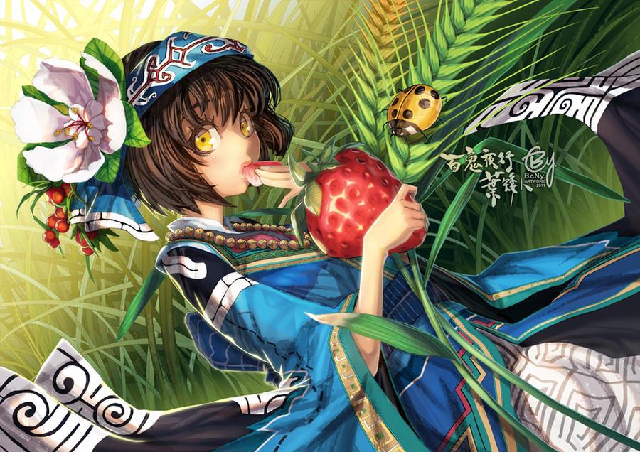 Hyakki Night:Leaf elf by bcnyArt