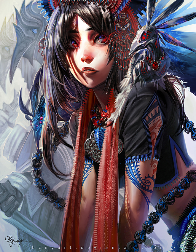 Azure Blue Psychic by bcnyArt