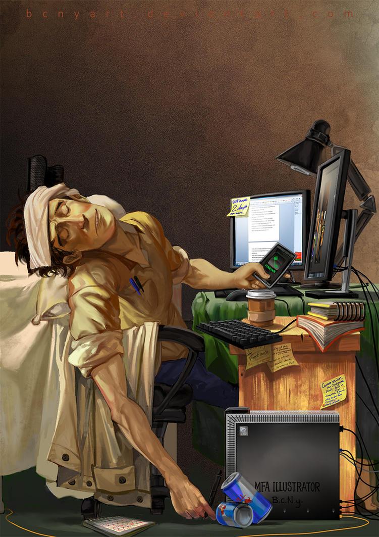MFA illustrator by bcnyArt