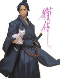 Neko Samurai by bcnyArt