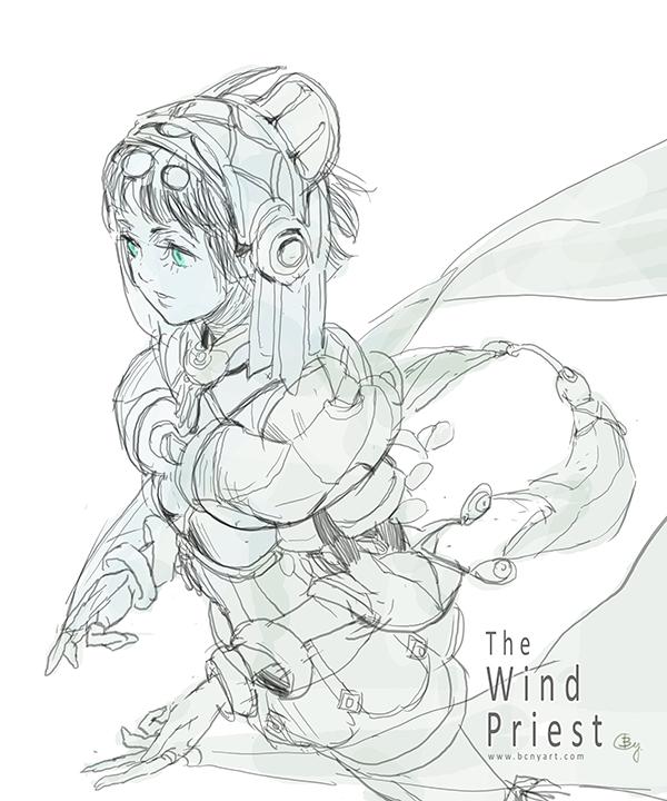 The Wind Preist by bcnyArt