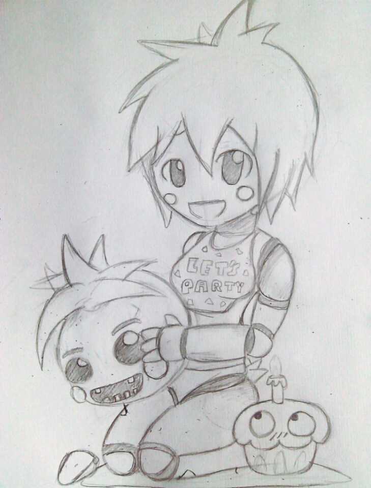 Fnaf 2 toy chica wip by sinfulsaint213 on deviantart for Fnaf anime coloring pages