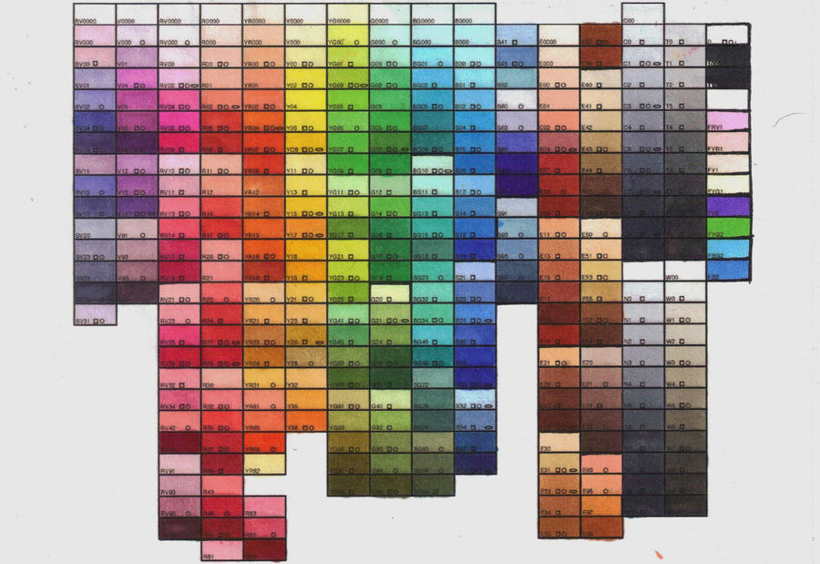 Complete Copic Color Chart By Joker08 On DeviantArt