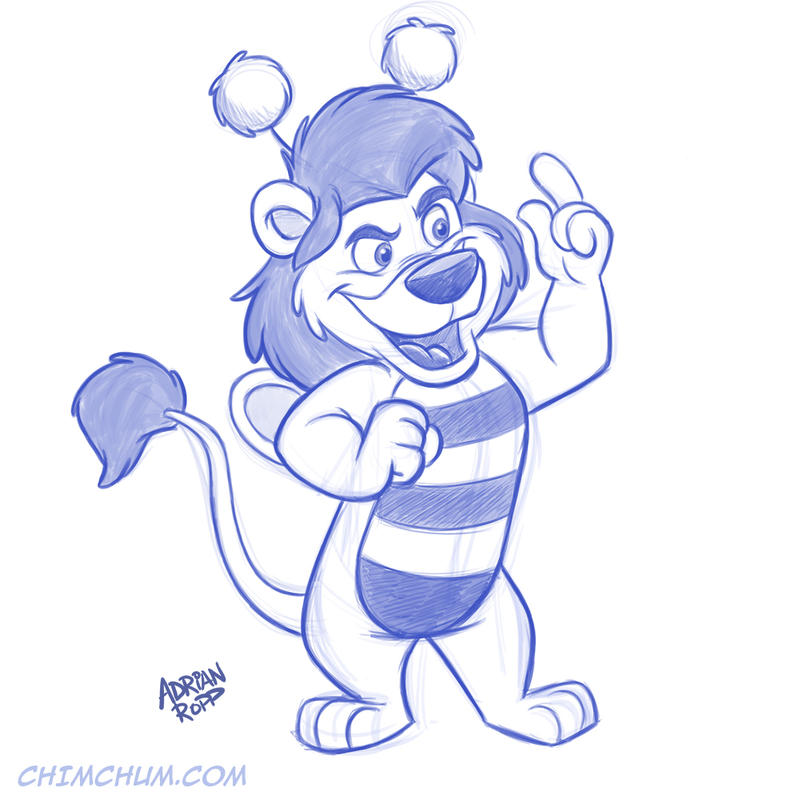Bumblelion Sketch - Two Times the Fun! by toonbaboon