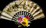 Vintage decorative fan png stock