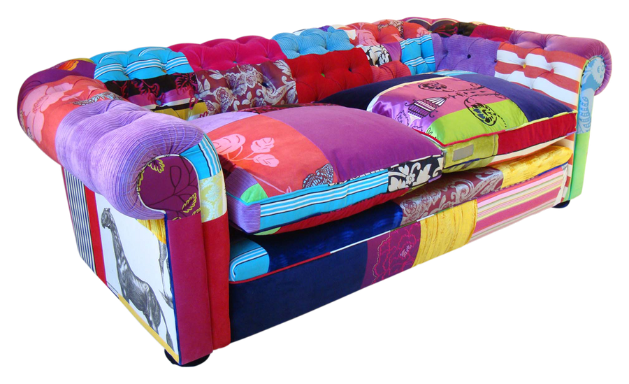 Patchwork sofa stock png by doloresminette on deviantart for Sofa patchwork