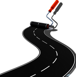 Painted road stock PNG