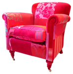 Pink easy chair stock