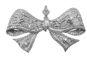 jeweled barrette bow stock by DoloresMinette