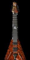 Electric Guitar v shape PNG