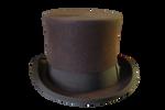 brown Top hat PNG