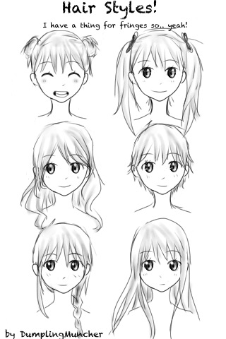 Go Back gt Gallery For How To Draw A Bun Hairstyle Anime