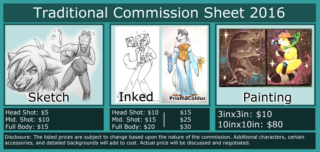 traditional commission sheets  void  by xcailinmurre on