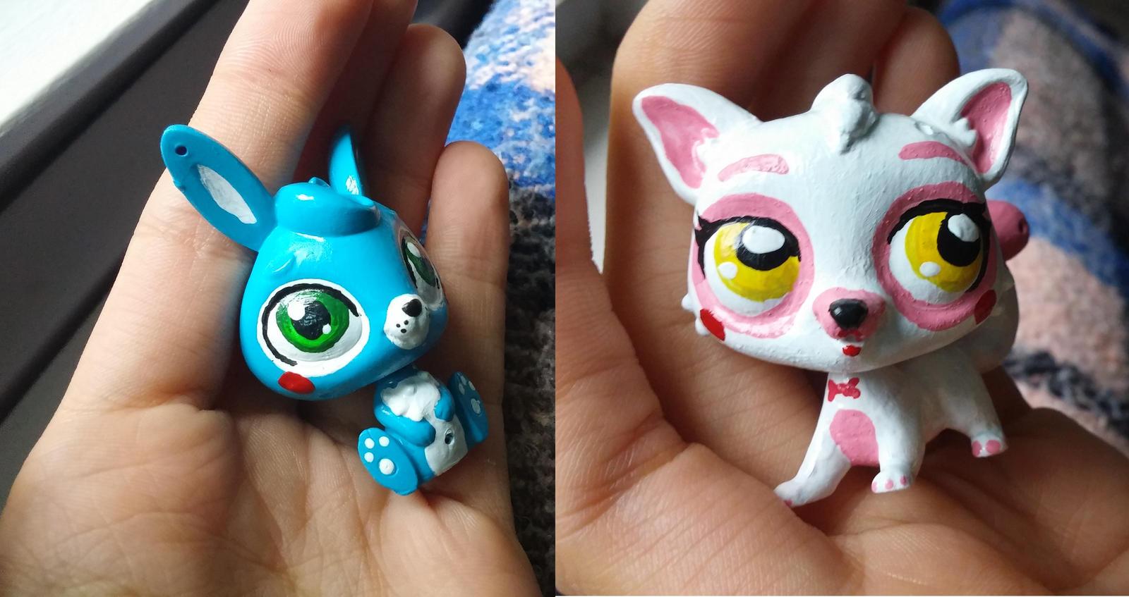 Toy bonnie and toy foxy by kibaandme on deviantart