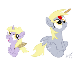 Dinky And Derpy by loomx