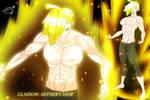Older Gladion with Super Saiyan Aura by Zecrus-chan
