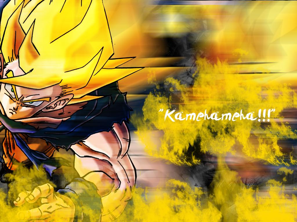 Goku SSJ- Kamehameha Wallpaper by DemonFoxSlayer on DeviantArt