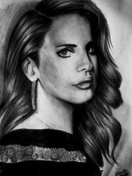 Lana Del Rey : pencil portrait by DeadlyAngel-Drawings