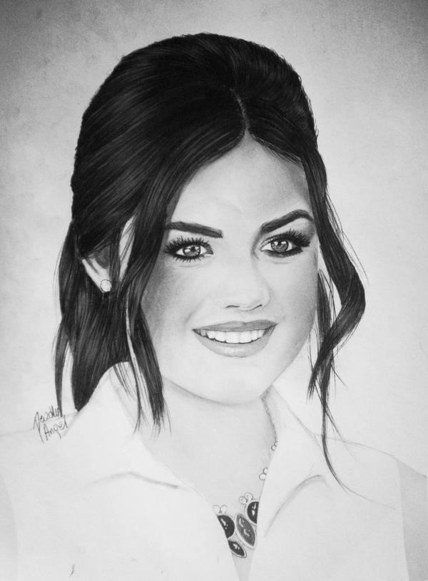 how to draw lucy hale& 39