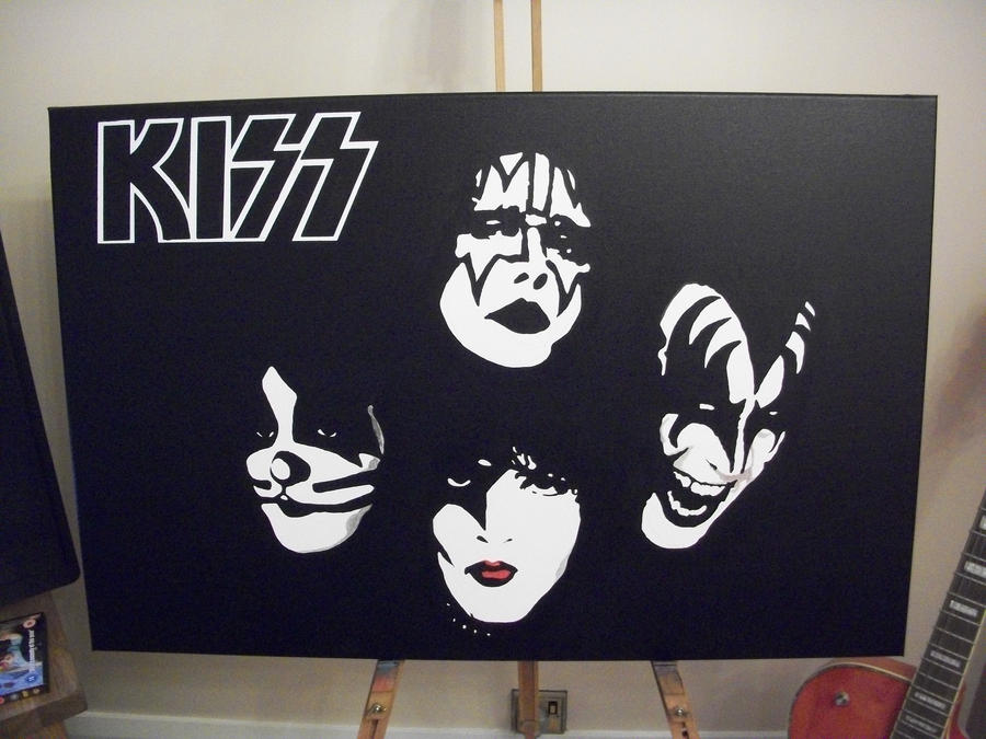 Kiss commission on canvas by Spudb76